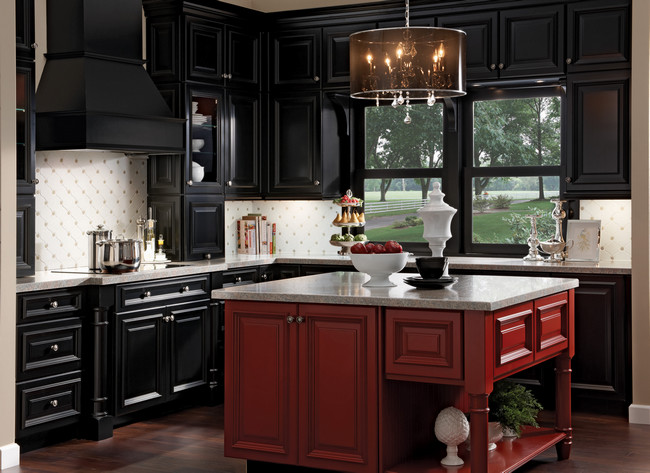 Kitchen and bath blab modern supply s kitchen bath for Dark red kitchen cabinets