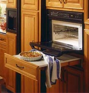 GE oven pull-out shelf