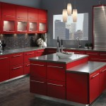 KraftMaid Maple Cardinal Red