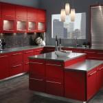 KraftMaid Maple Cardinal Red