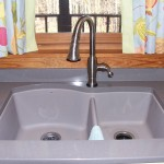 Blanco granite sink in truffle