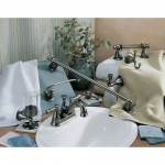 Delta bath accessories & matching faucet