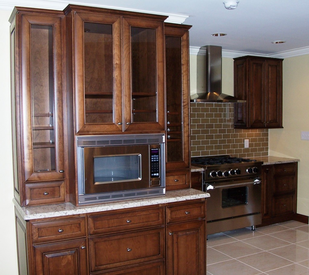 kitchen remodel microwave cabinet