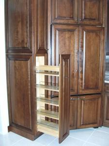 kitchen remodel concealed refrigerator