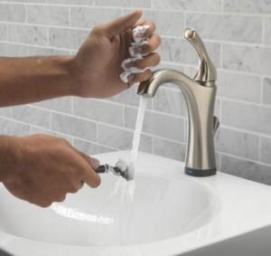 Delta Bath Touch faucet