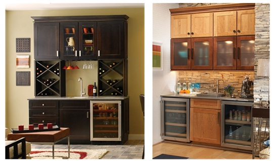 Beverage Bar Cabinet In The Kitchen